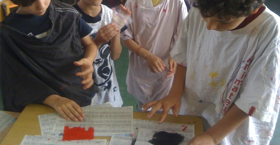 l'atelier de poche, sensibilisation à l'estampe, découverte de la gravure et techniques non-toxiques pour enfants et adultes, gravures , bamg, blandine galtier, atelier graph'INK sur Bordeaux bastide