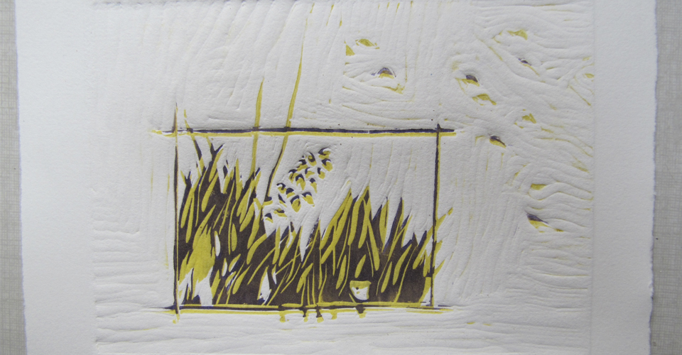 l'atelier de poche, sensibilisation à l'estampe, découverte de la gravure et techniques non-toxiques pour enfants et adultes, gravures , bamg, blandine galtier, atelier graph'INK sur Bordeaux bastide, linogravure à fond perdu